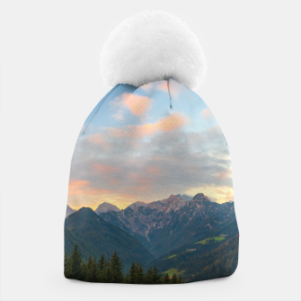 Thumbnail image of Stunning sunrise in Logar valley, Slovenia Beanie, Live Heroes
