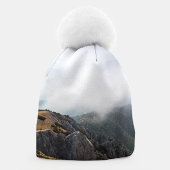 Thumbnail image of Clouds rolling over mountains Beanie, Live Heroes