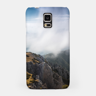 Thumbnail image of Clouds rolling over mountains Samsung Case, Live Heroes