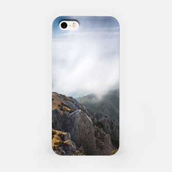 Miniatur Clouds rolling over mountains iPhone Case, Live Heroes