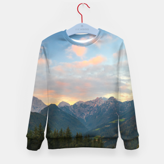 Imagen en miniatura de Stunning sunrise in Logar valley, Slovenia Kid's sweater, Live Heroes