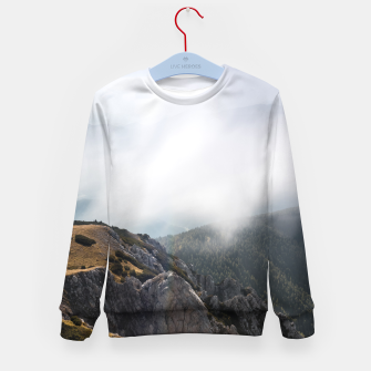 Imagen en miniatura de Clouds rolling over mountains Kid's sweater, Live Heroes