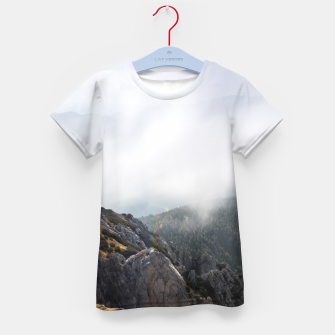 Thumbnail image of Clouds rolling over mountains Kid's t-shirt, Live Heroes