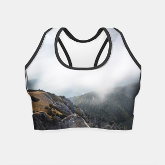 Thumbnail image of Clouds rolling over mountains Crop Top, Live Heroes