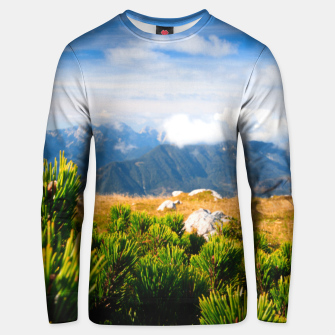 Thumbnail image of Autumn mountain scenery Unisex sweater, Live Heroes