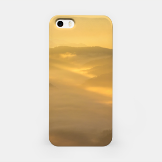Thumbnail image of Sun light shining on morning fog iPhone Case, Live Heroes