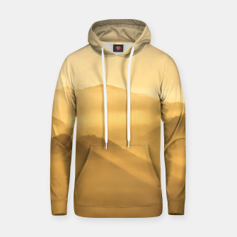 Miniatur Morning fog hills layers sunrise Hoodie, Live Heroes