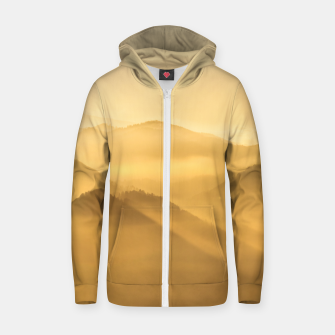 Miniatur Morning fog hills layers sunrise Zip up hoodie, Live Heroes