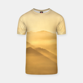 Miniatur Morning fog hills layers sunrise T-shirt, Live Heroes