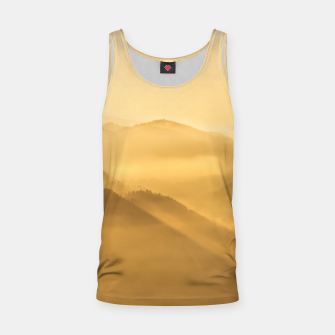 Miniatur Morning fog hills layers sunrise Tank Top, Live Heroes