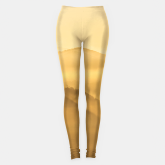 Miniatur Morning fog hills layers sunrise Leggings, Live Heroes