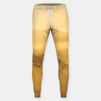Miniatur Morning fog hills layers sunrise Sweatpants, Live Heroes