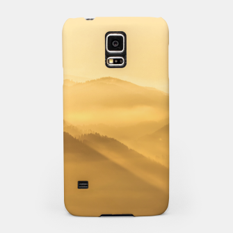 Miniatur Morning fog hills layers sunrise Samsung Case, Live Heroes