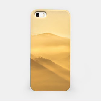 Miniatur Morning fog hills layers sunrise iPhone Case, Live Heroes