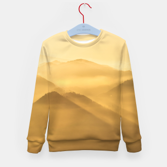 Imagen en miniatura de Morning fog hills layers sunrise Kid's sweater, Live Heroes