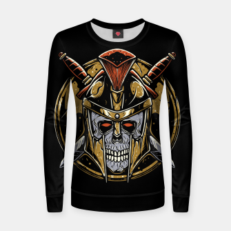 Thumbnail image of Skull Spartan Women sweater, Live Heroes