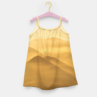 Miniatur Morning fog hills layers sunrise Girl's dress, Live Heroes