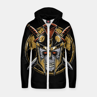 Thumbnail image of Skull Spartan Zip up hoodie, Live Heroes