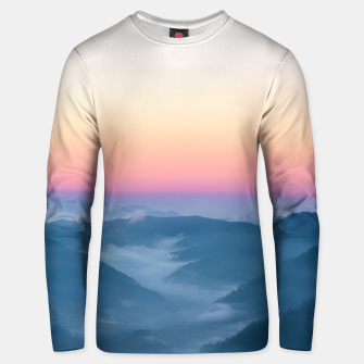 Miniature de image de Morning fog and magical sky before sunrise Unisex sweater, Live Heroes