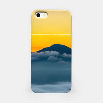Thumbnail image of Orange sunrise sky above Uršlja gora, Slovenia iPhone Case, Live Heroes