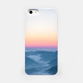 Miniature de image de Morning fog and magical sky before sunrise iPhone Case, Live Heroes