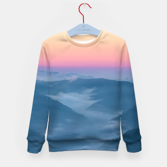 Imagen en miniatura de Morning fog and magical sky before sunrise Kid's sweater, Live Heroes