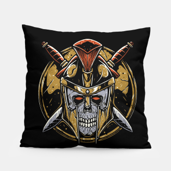 Thumbnail image of Skull Spartan Pillow, Live Heroes
