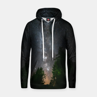 Miniatur Milky way above spruce forest Hoodie, Live Heroes