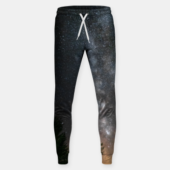 Miniatur Milky way above spruce forest Sweatpants, Live Heroes
