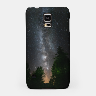 Miniatur Milky way above spruce forest Samsung Case, Live Heroes