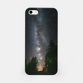 Miniatur Milky way above spruce forest iPhone Case, Live Heroes