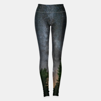 Miniatur Milky way above spruce forest Leggings, Live Heroes