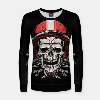 Skull Biker Women sweater miniature