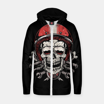 Skull Biker Zip up hoodie miniature
