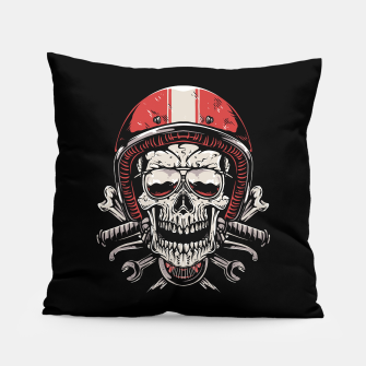 Skull Biker Pillow miniature