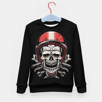 Skull Biker Kid's sweater miniature