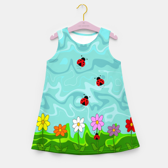 Thumbnail image of A Cloudy Summer Day Girl's summer dress, Live Heroes