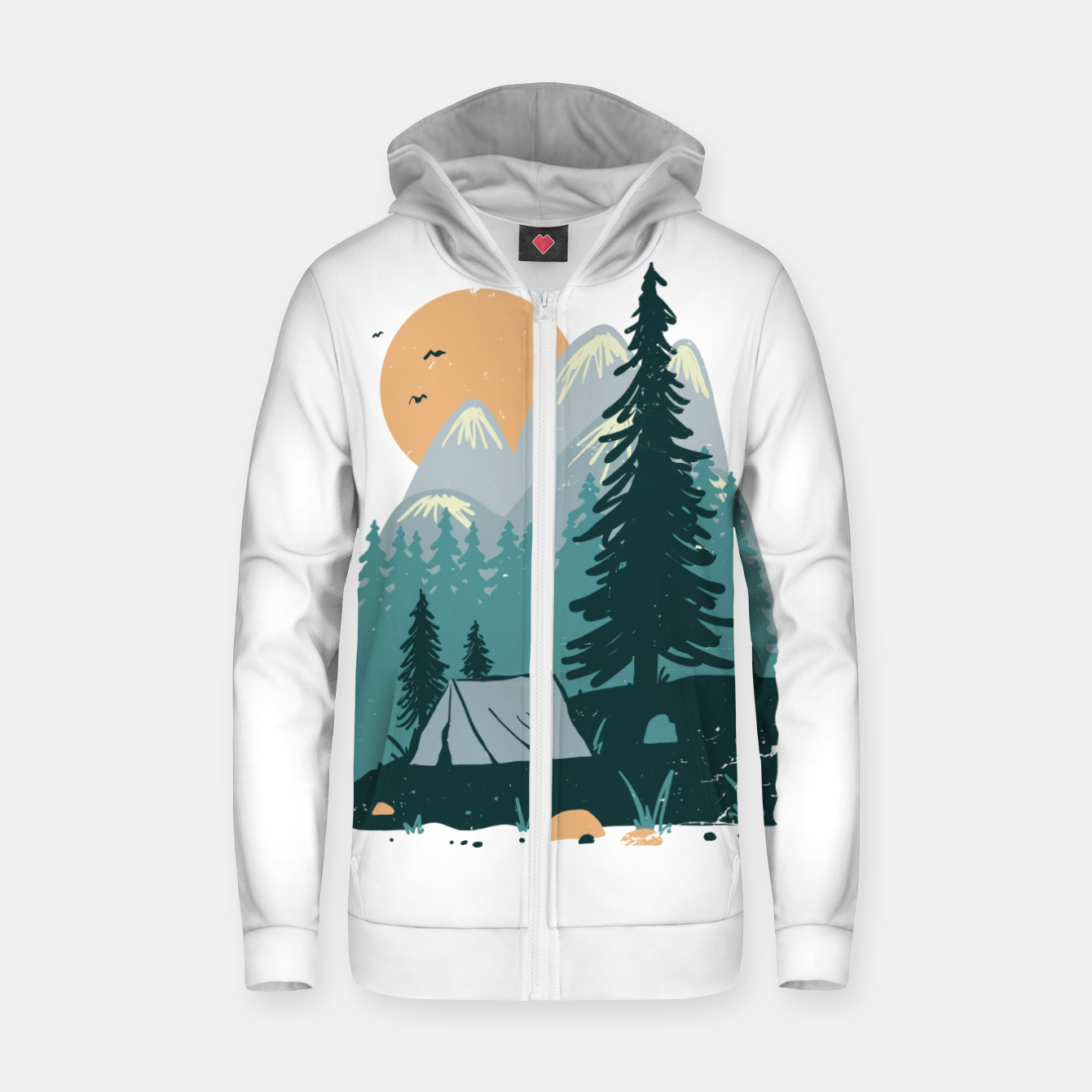 Image de Back to Nature Zip up hoodie - Live Heroes