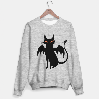 Thumbnail image of The spirits of the night: dark winged cat Sweater regular, Live Heroes
