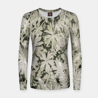 Thumbnail image of Pale Tropical Floral Print Pattern Women sweater, Live Heroes