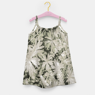 Thumbnail image of Pale Tropical Floral Print Pattern Girl's dress, Live Heroes