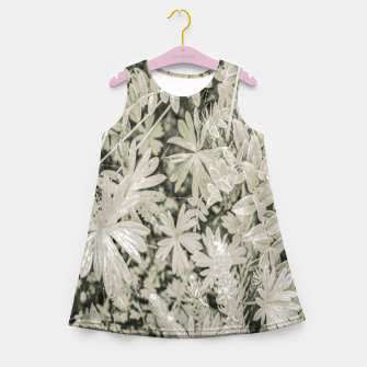 Miniaturka Pale Tropical Floral Print Pattern Girl's summer dress, Live Heroes