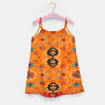 Thumbnail image of Orange Vintage BOHO Moroccan Style  Girl's dress, Live Heroes