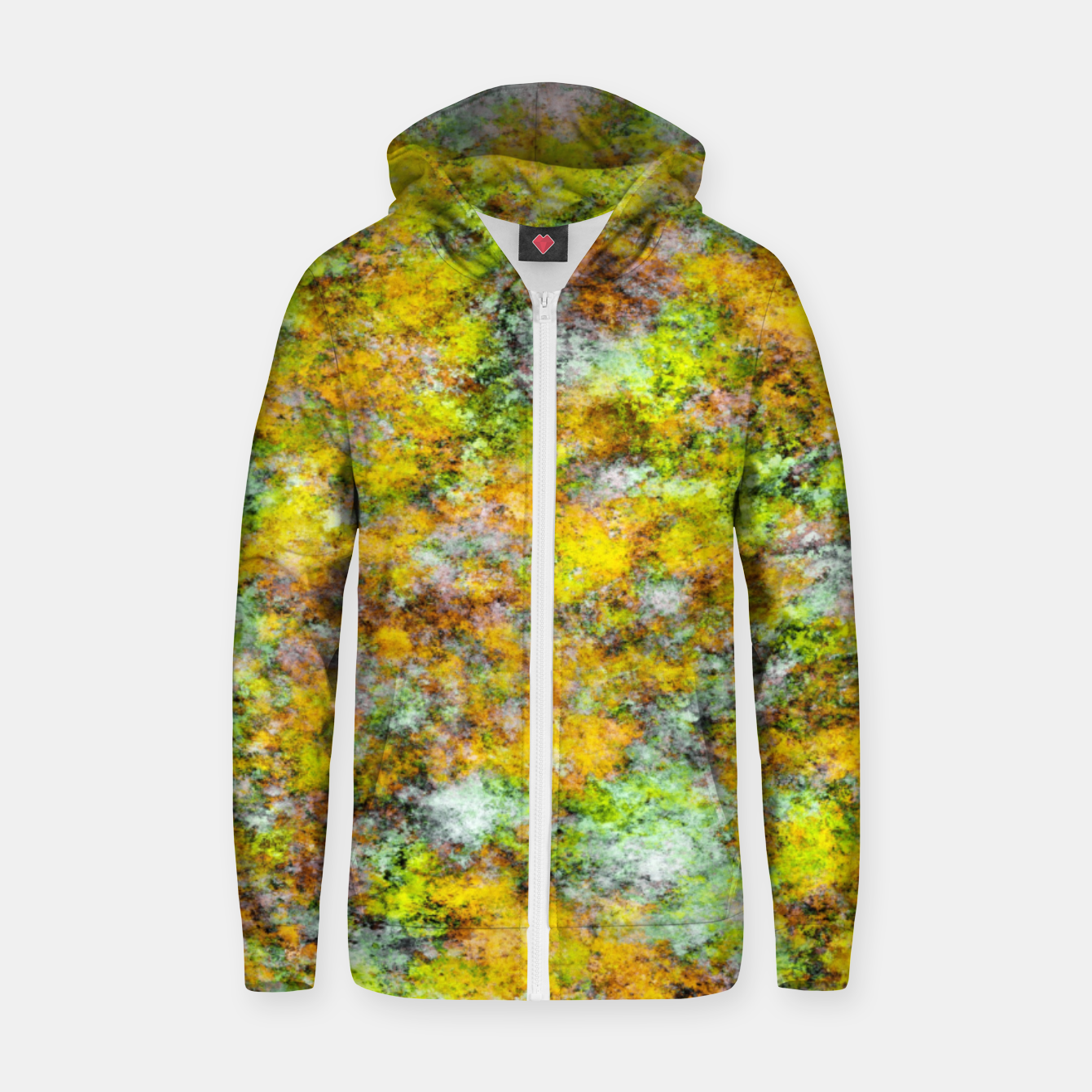 Image of Scrambled eggs Zip up hoodie - Live Heroes