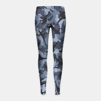 Thumbnail image of MMA Camo URBAN WARRIOR Girl's leggings, Live Heroes