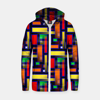 Thumbnail image of Color Merge Zip up hoodie, Live Heroes