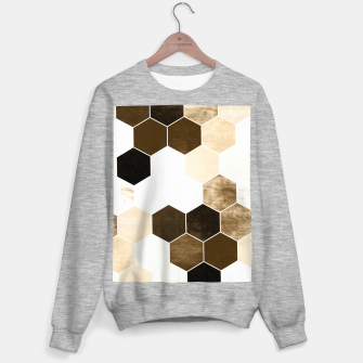 Miniature de image de Honeycombs print, sepia colors hexagons with stone effect Sweater regular, Live Heroes