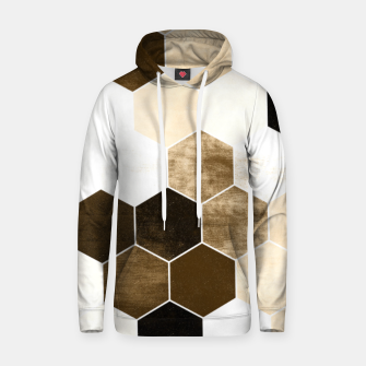 Miniature de image de Honeycombs print, sepia colors hexagons with stone effect Hoodie, Live Heroes