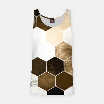 Miniature de image de Honeycombs print, sepia colors hexagons with stone effect Tank Top, Live Heroes