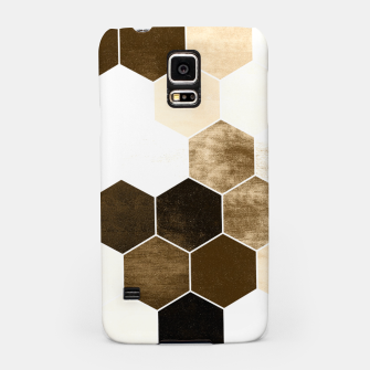 Miniature de image de Honeycombs print, sepia colors hexagons with stone effect Samsung Case, Live Heroes